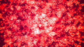 Flying Hearts. Abstract Loopable Background. HD Loopable Abstract Background with nice flying hearts for club visuals, LED installations, broadcasting featuring stock footage