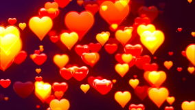 Flying Hearts, Abstract Loopable Background stock footage