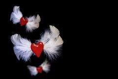Flying hearts Royalty Free Stock Photo