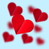 Flying hearts - Illustration. Royalty Free Stock Images