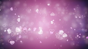 Flying hearts. Valentine's day background, flying hearts stock footage