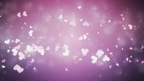 Flying hearts. Valentine's day background, flying hearts stock video