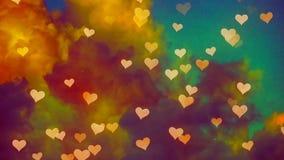 Flying hearts. St. Valentine`s Day