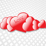 Flying hearts on white background Stock Photo
