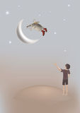 Flying hedgehog royalty free illustration