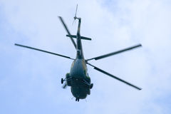 Flying helicopter Royalty Free Stock Images