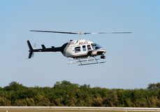 Flying helicopter Stock Photos