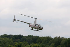 Flying helicopter. Stock Images