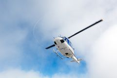 Flying helicopter Royalty Free Stock Image