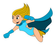 Flying hero cartoon Stock Photo