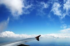 Flying high. In the sky Stock Photography