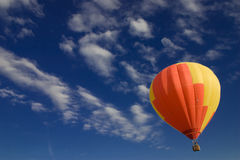 Flying High. Hot Air Balloon, Balloon, Flying, High, Clouds, Summer, Retirement, Achievement, Floating royalty free stock images
