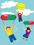 Flying high royalty free illustration