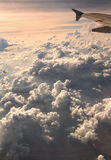 Flying High. Flying above the clouds Royalty Free Stock Photo