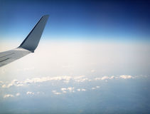 Flying high above the earth. Stock Image