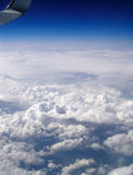 Flying high above the earth. Stock Photo