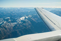 Flying high over the Alps Royalty Free Stock Photo