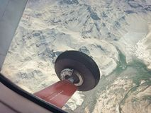 Flying High over the Grand Canyon. A scenic flight over the impressive and equally daunting Grand Canyon.  Talk about some incredible views Stock Image