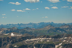 Flying high over the Rocky Mountains Colorado Stock Photo