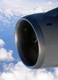 Flying High - A Single Jet Engine at Altitude Royalty Free Stock Photography
