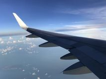 Flying High. A view from the window on a flight to Royalty Free Stock Photos