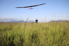 Flying His Glider Royalty Free Stock Photos