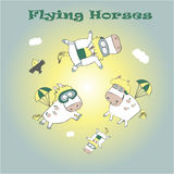Flying horses Royalty Free Stock Photography