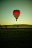 Flying hot air balloon Royalty Free Stock Images
