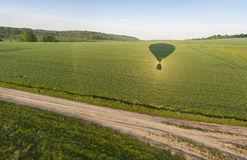 Flying on hot air balloon royalty free stock images