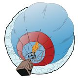 Flying hot air balloon. Royalty Free Stock Photography