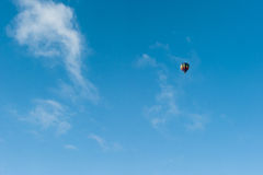 Flying in a Hot Air Balloon in Winter Royalty Free Stock Photos