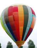 Flying Hot air balloons Stock Photo