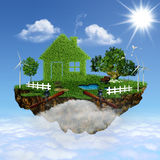 Flying House. Royalty Free Stock Images