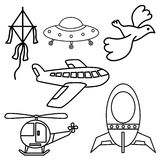 Flying Icon Designs Royalty Free Stock Photo