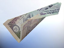 Flying Indian Currency Royalty Free Stock Photos