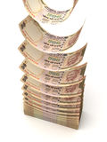 Flying Indian Rupee Royalty Free Stock Images