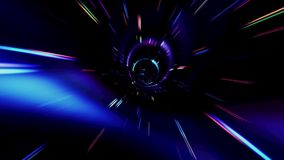 Flying Inside A Beautiful Vortex In Outer Space. Traveling Fast In A Wormhole Through Space And Time stock video