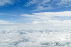 Flying inside the clouds Royalty Free Stock Photo