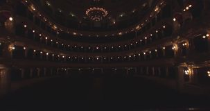 Flying inside the Opera house. Turning on the illumination