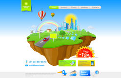 Flying Island concept Royalty Free Stock Photo