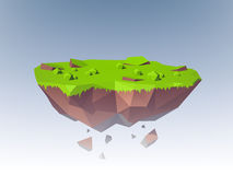 Flying Island Polygonal Royalty Free Stock Photography