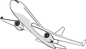 Flying jet Stock Images