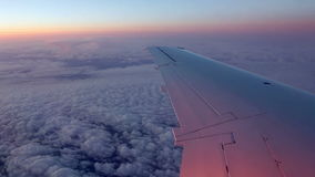 Flying on jet plane time lapse