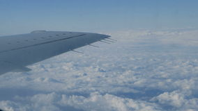 Flying on jet plane stock footage