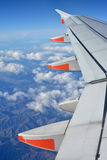 Flying in a Jetsar A320 Aircraft over The Kaikoura Mountains. Royalty Free Stock Photo