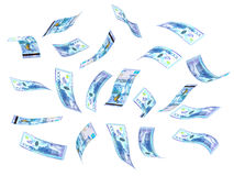 Flying Kazakh Tenge Royalty Free Stock Images