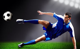 Flying kick Stock Images