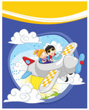 Flying kids  illustration. 