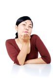 Flying kiss Royalty Free Stock Images