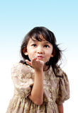 Flying kiss Stock Image